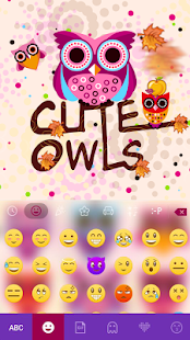 Cute Owls Emoji Keyboard - náhled