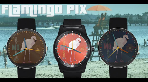 Watch Face - Flamingo Pix