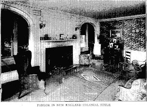 Photo: 1907 a parlor decorated in the Colonial style
