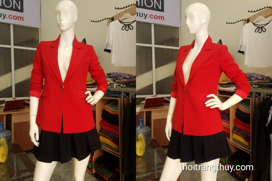 Áo vest nữ dáng suông kết hợp với chân váy xòe nữ V483 Hải Phòng