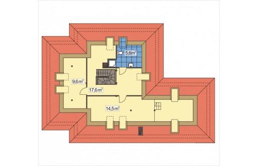 Akacja II wersja D z podwójnym garażem - Rzut poddasza