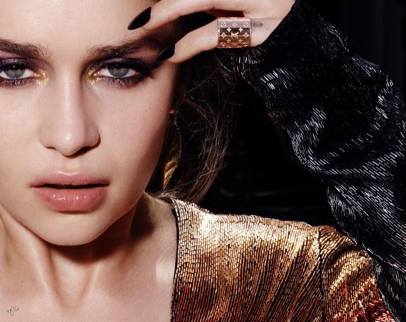 Эмилия Кларк в фотосессии Violet Grey, макияж
