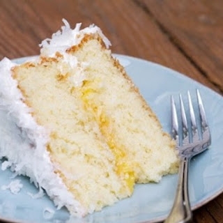 Coconut Layer Cake with Pineapple Curd.