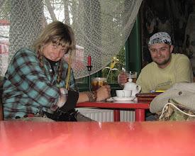 Photo: Podbijam pieczątkę u sympatycznej pani z obsługi, po czym raczymy się wyśmienitym piwkiem i herbatą.