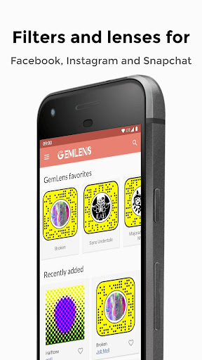 GemLens - Filters and Lenses for Social Media 4.0 screenshots 1
