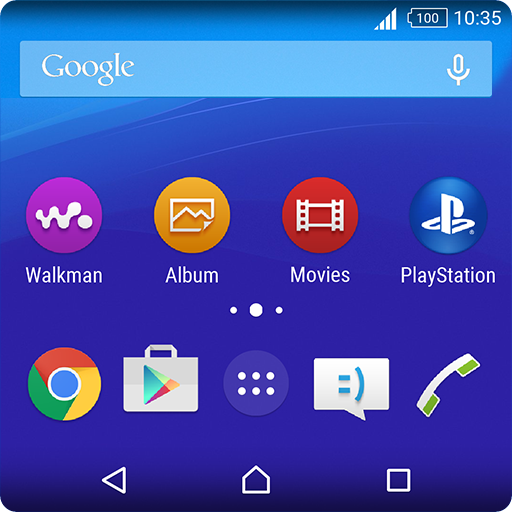 Back to Lollipop Xperia Theme for those who boring