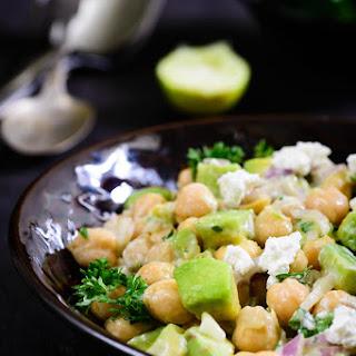 Chickpea, Avocado and Feta Salad.
