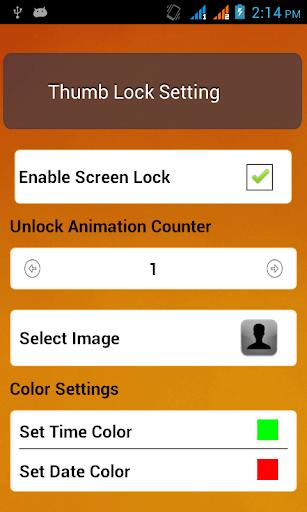 Thumb Screen Lock