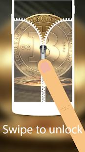 Bitcoin BTC crypto Zipper zip locker HD theme - náhled