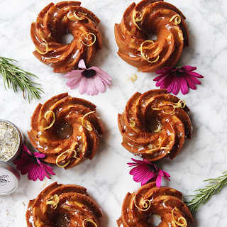 Lemon and Rosemary Olive Oil Bundt Cakes.