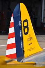 """Photo: Un avionneur de légende, Ryan Aeronautical. Co. (le Spirit of St Louis de Linberg!)ici la dérive du Ryan PT22 """"Recruit"""" portant la livrée des avions école de l'US Army Air Corps en1942."""