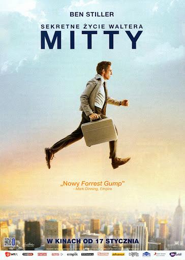 Przód ulotki filmu 'Sekretne Życie Waltera Mitty'