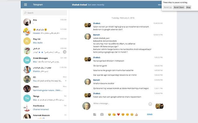 Telegram Chat Scroller