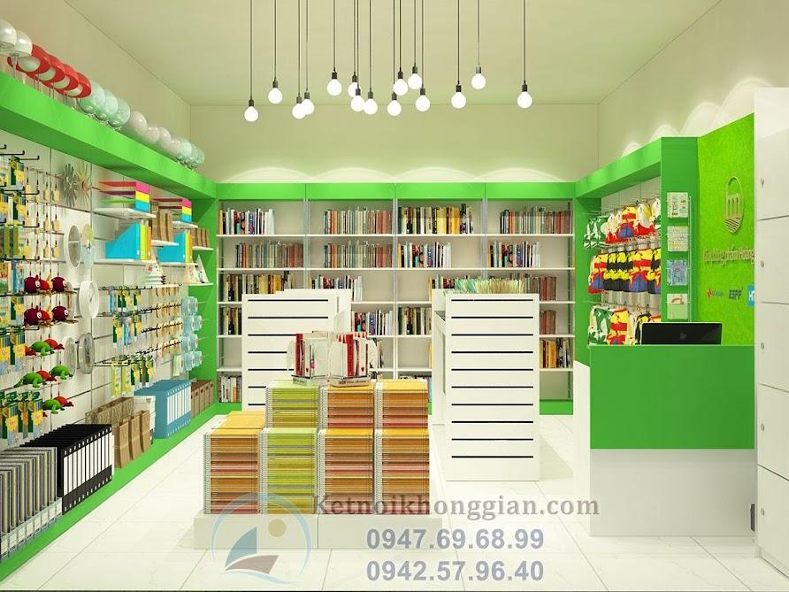 thiết kế cửa hàng văn phòng phẩm 30m2