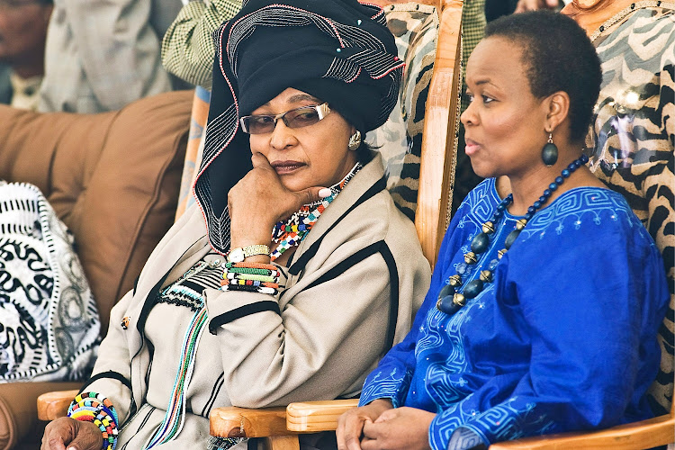 Winnie Madikizela-Mandela at a meeting in honour of Nelson Mandela at Freedom Park, Pretoria, on November 5 2009.