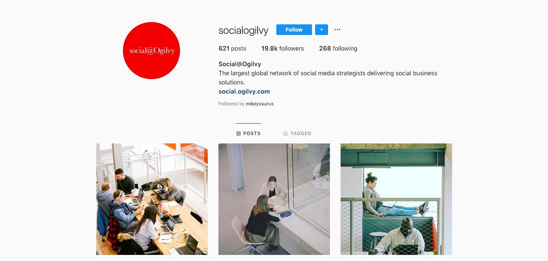 Instagram profile feed