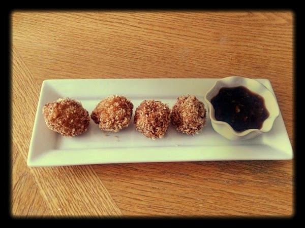Crispy Shrimp Balls With Garlic Sauce Recipe