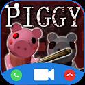 Scary Piggy Granny Fake call icon