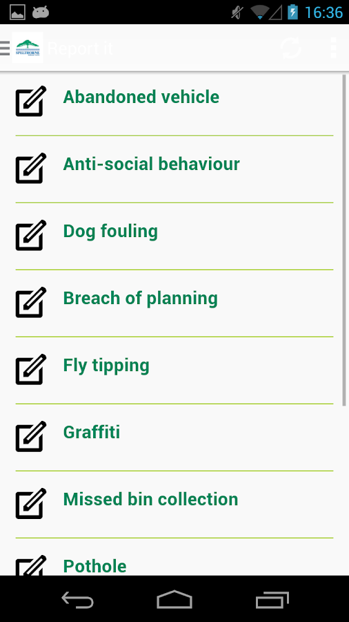 Spelthorne App- screenshot