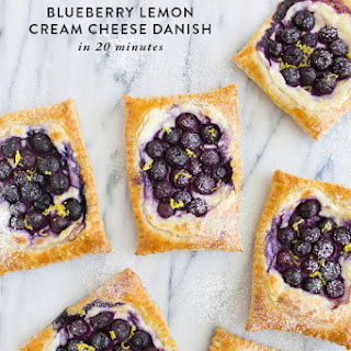 20 Minute Blueberry Lemon Cream Cheese Danish