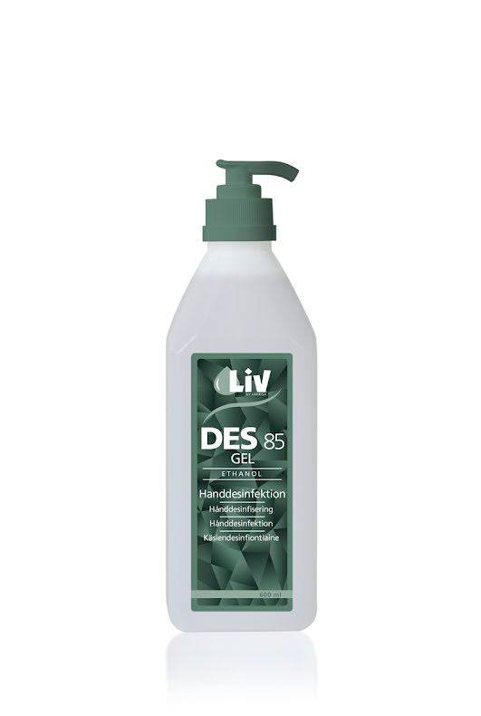 Handsprit Liv Des Gel 85 Pump 600ml