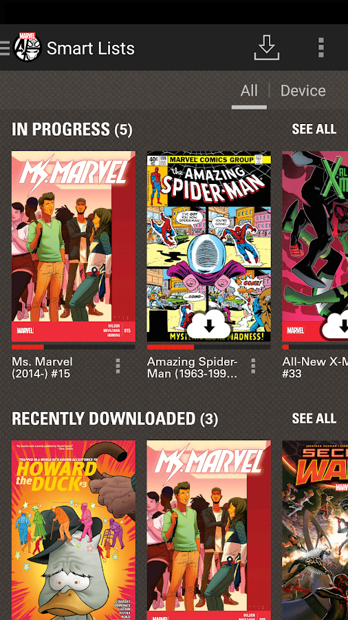 marvel comics app for nokia