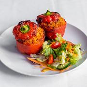 Stuffed Red Pepper with Jollof Rice (V) (VG)