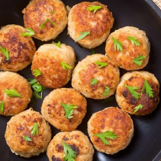 Tasty chicken cordon bleu meatballs with Dijon cream sauce.