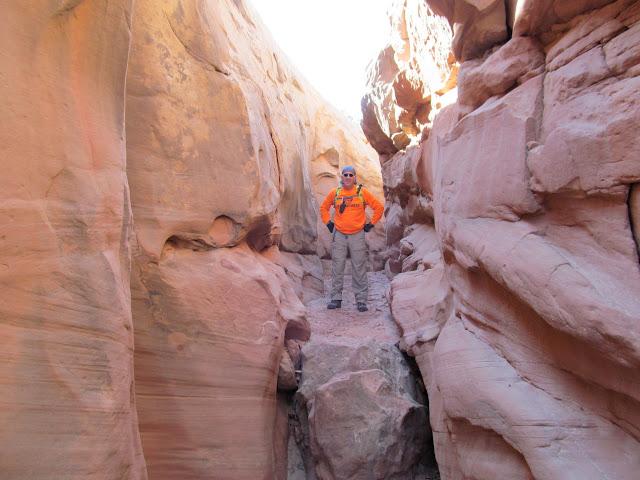 Ken above a downclimb