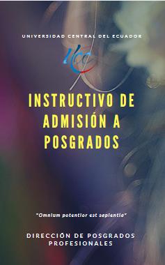 Instructivo de Admisión a Programas de Posgrado