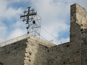 Photo: Jerusalem Cross on the Church of the Nativity