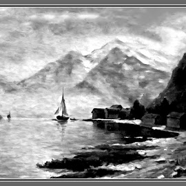 Stormy Day... by Morris Kleyman - Drawing All Drawing ( weather..., drawings, colors, landscape )