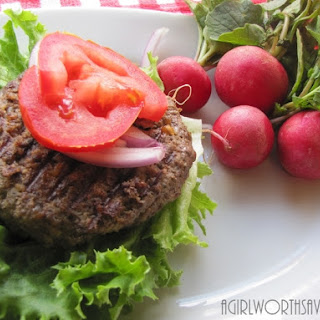 Tasty Beef and Liver Burger.