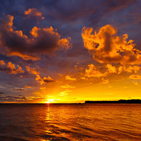 Fiji Sunset by Rob Rickman - Landscapes Waterscapes ( clouds, sunset, waves )