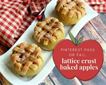 Pinterest Pass or Fail: Lattice Crust Baked Apples