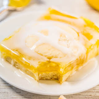 Glazed Lemon Pie Bars.
