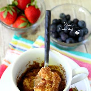 Cinnamon Roll Microwave Mug Cake