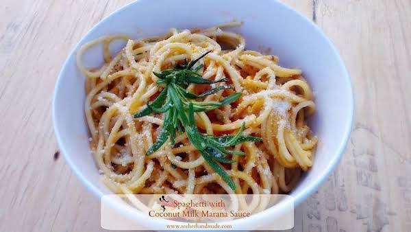 Meatlessmonday Spaghetti With Coconut Tomato Sauce Recipe