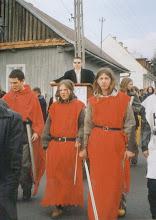 Photo: Święto Patrona Szkoły, 03 2001 r. pochód na Rynek