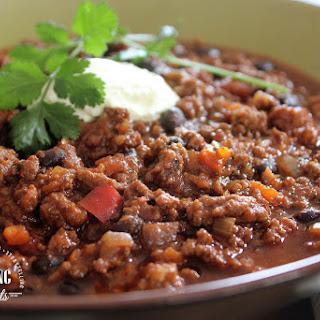 Rich Chili Con Carne w/ Chorizo and Dates