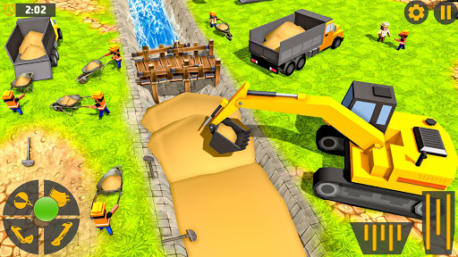 Mega City Canal Construction & Road Builder screenshots 11