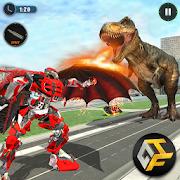 Wild Dinosaur Robot Vs Flying Dragon: Dino Games