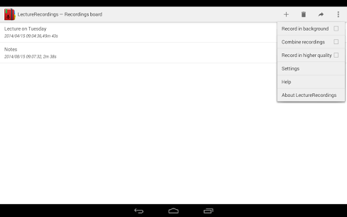 LectureRecordings 1.3.13 APK Mod Updated 1