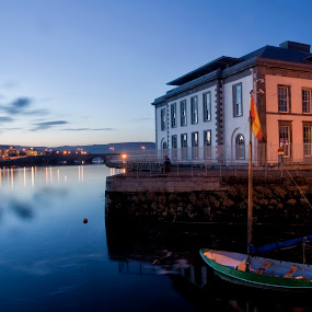 Limerick Courthouse  by Helen Quirke  - Buildings & Architecture Public & Historical ( ireland, limerick, blue hour, shannon, boat, river,  )