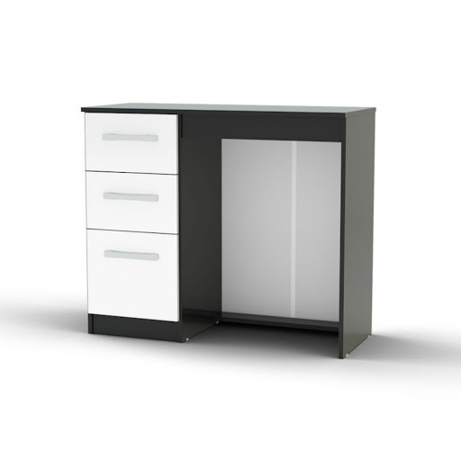 Birlea lynx black white bedroom furniture big savings for Furniture 2 day shipping