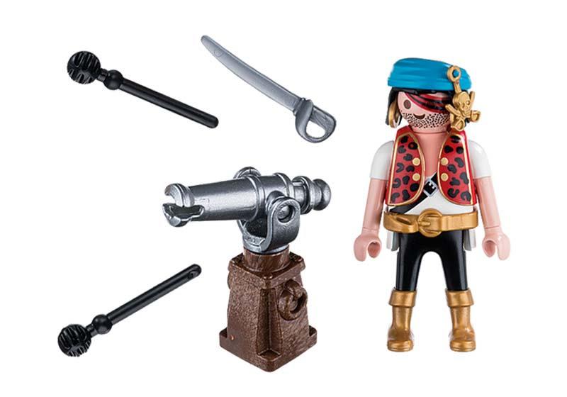 Contenido real de Playmobil® 5378 Pirata con Cañón