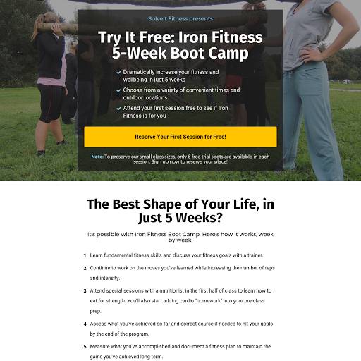 Boot Camp Signup Page