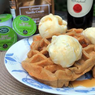 Caramel Vanilla Cream Coffee Waffles