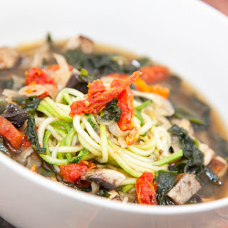 Zucchini Noodle Ramen w/Mushroom Miso Broth