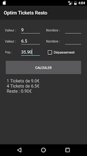 Optim Tickets Resto- screenshot thumbnail